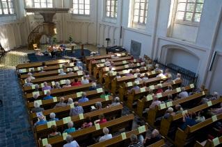 De Koorkerk tijdens het maxi-miniconcert